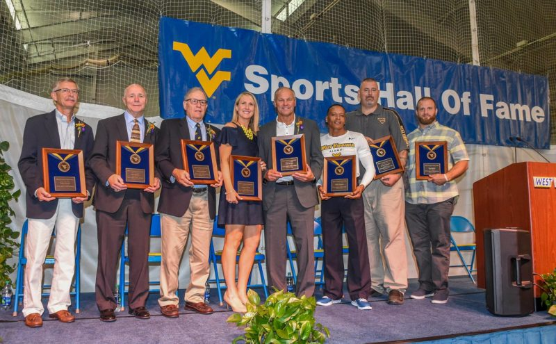 Members of the 2017 WVU Sports Hall of Fame class. (Photo courtest of Dale Sparks/All-Pro Photography).