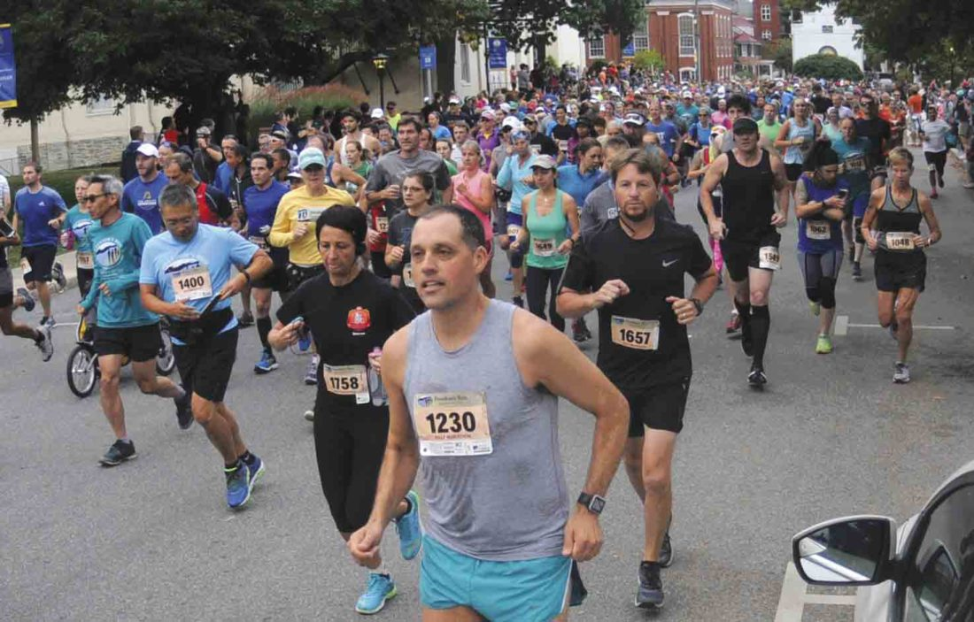 Journal photo by Ron Agnir James Pearce, of Rockville, Maryland, won the men's marathon during Saturday's Freedom's Run event.