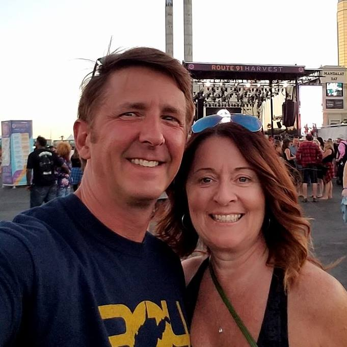 Facebook photo A photo posted on her Facebook page shows Denise Burditus and her husband, Tony, at the Route 91 Harvest Festival concert about 30 minutes before a man opened fire on the audience, killing at least 59. Denise Burditus was one of the victims.