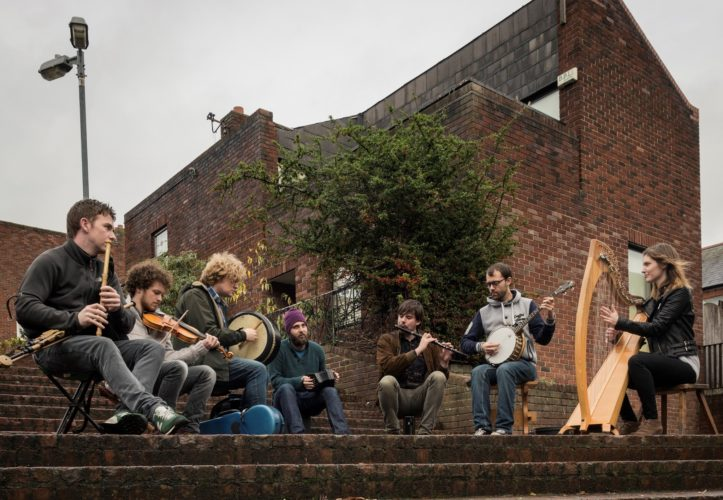 Skippers Alley, a seven-piece band based in Dublin, Ireland, will perform the first concert in the fall season of Shepherdstown Music and Dance this Friday. (Submitted photo)