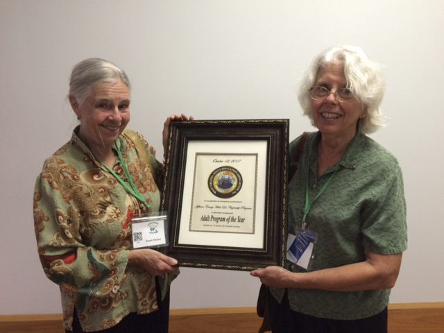 In the photo, Susan Fischer is the woman on the left, Jane Wagner is on the right.