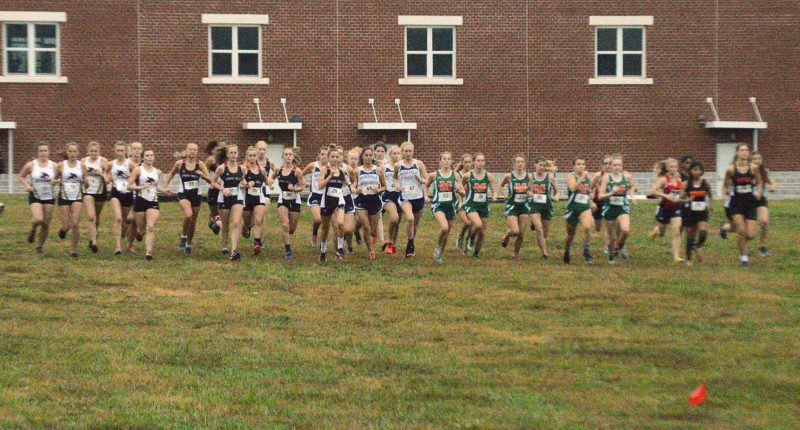 Girls runners take off at the start of last week's Eastern Panhandle Athletic Conference meet. Today, the teams compete in regional competition. (Journal photo by Jessica Manuel-Wilt)
