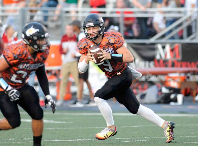 Martinsburg quarterback Tyson Bagent has been named as The Journal/Gold's Gym Athlete of the Week. (Journal photo by Ron Agnir)