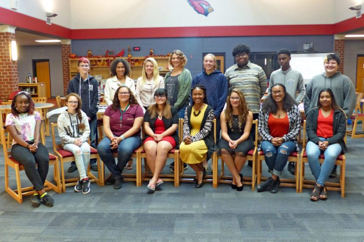 A group of students at Springs Mills High School are participating in a leadership and social justice through a program started by a Shepherd University professor. Dr. Chiquita Howard-Bostic, associate professor of sociology and chair of the Department of Sociology and Geography, called Help Bridge. The program is also being offered this year at Martinsburg High School. (Photo courtesy of Shepherd University)