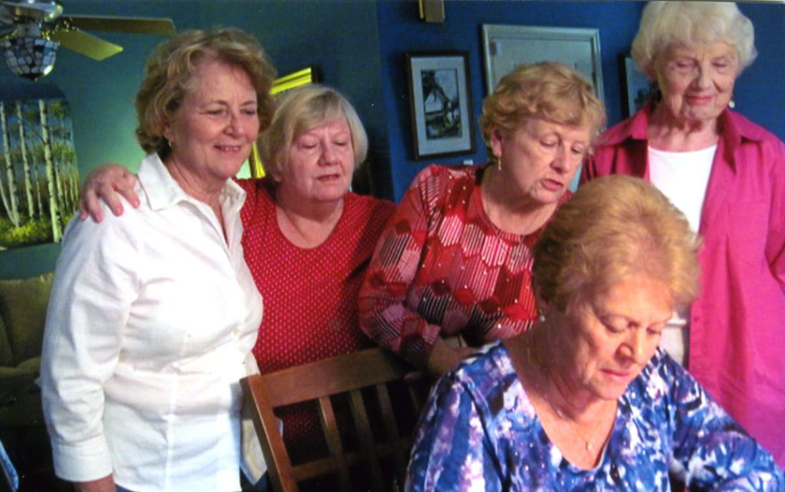 Pictured, from left, are Susan Sanders, Reine Lambert, Pat Rhea, Donna Ruppenthal and Sylvia Pickett (Submitted photo)
