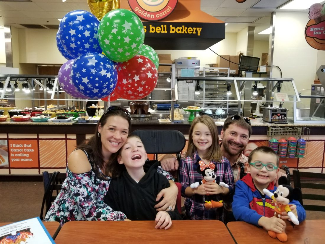Pictured left to right is Christina Hollis; Jacob Hollis; Brookelynn Hollis; Stephen Hollis; and Make-A-Wish recipient, Bryce Hollis. (Submitted photo)