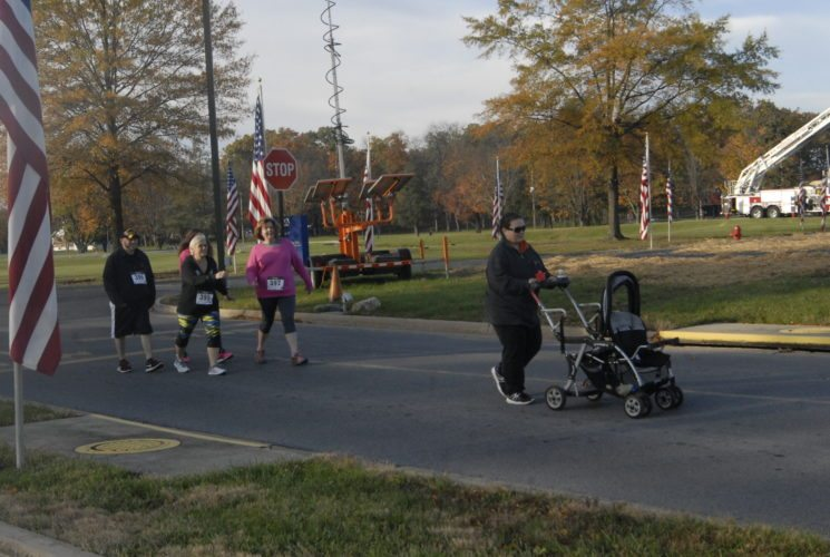 Journal photos by Tabitha Johnston Community members and veterans run, walk and roll Saturday, during the Veterans Road to Freedom 5k and 1k.