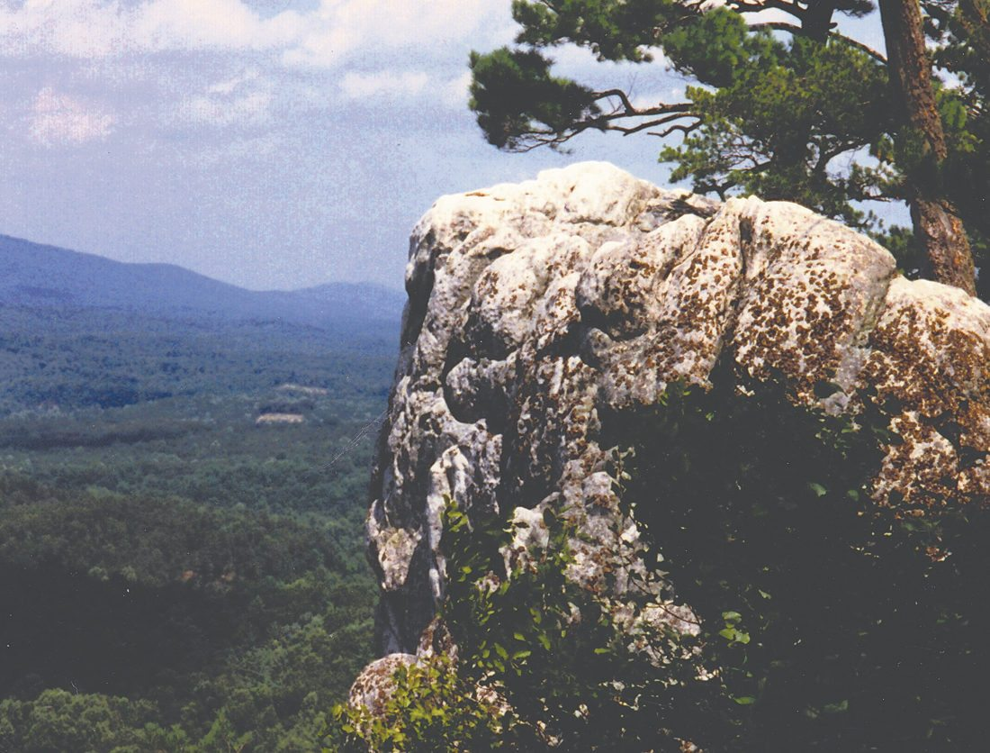 Raven Rocks offers an ideal view of Hampshire County.(Journal photo by Jeanne Mozier)