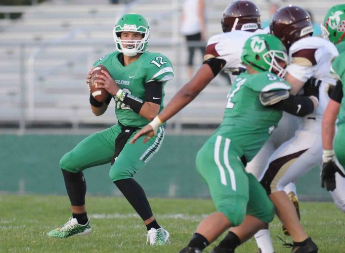 Musselman quarterback Chris Fox has helped Musselman's offense expand in 2017. (Journal photo by Ron Agnir)