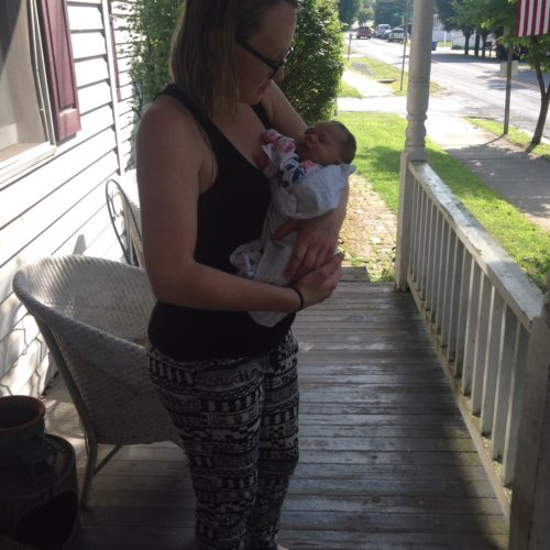 Submitted photo  Laura Garza, 22 of Harpers Ferry has become guardian of  her late sister Leslee Anne's 16-month-old daughter Leena. Leslee Anne died of a drug overdose  last year.