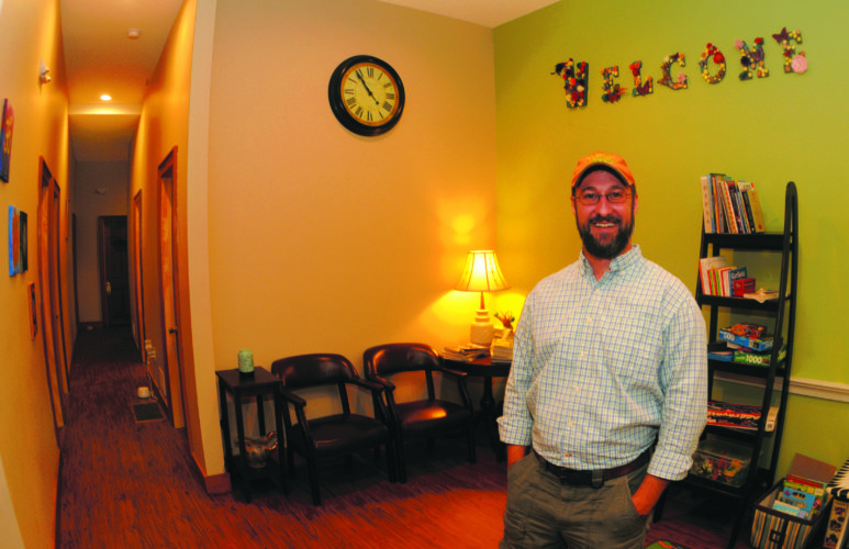 10 DUI2 ra 11-09-17 Gerren D. Simms, Chief Executive Officer, in the recently renovated entranceway at the Simms Intergrative Health Services on W. King Street in Martinsburg Thursday morning. (Journal Photo by Ron Agnir)