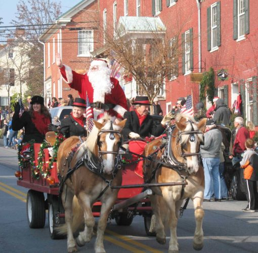 """Santa waving to the crowds is a highlight of the """"Christmas in Shepherdstown"""" parade. (Submitted photo)"""