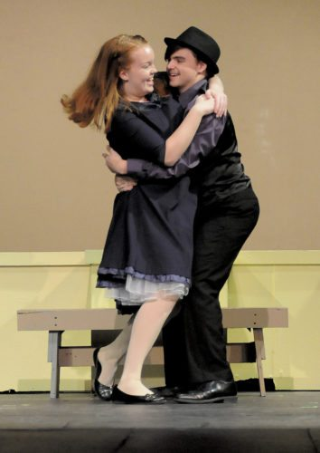 Sky Masterson (Chase Kipps) takes Sarah Brown (Ally Moore) to Havana, Cuba on a bet. (Journal Photo by Ron Agnir)