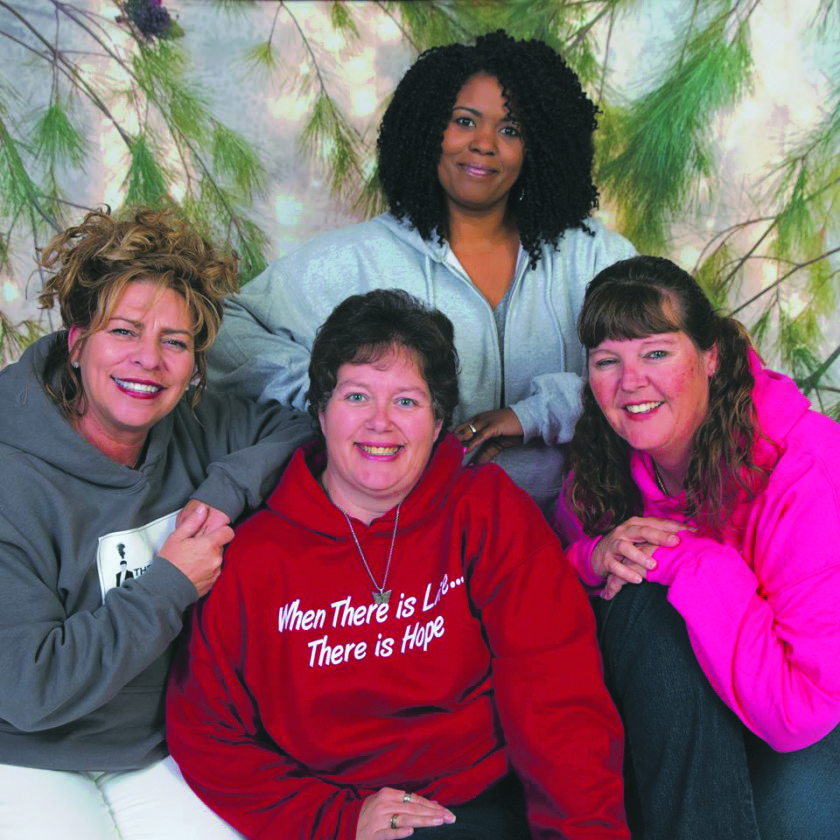 Submitted photo Lisa Melcher, left, Kristie Plotner, Tara Mayson and Tina Stride make up the Hope Dealers nonprofit. The women work to support those recovering from addiction.