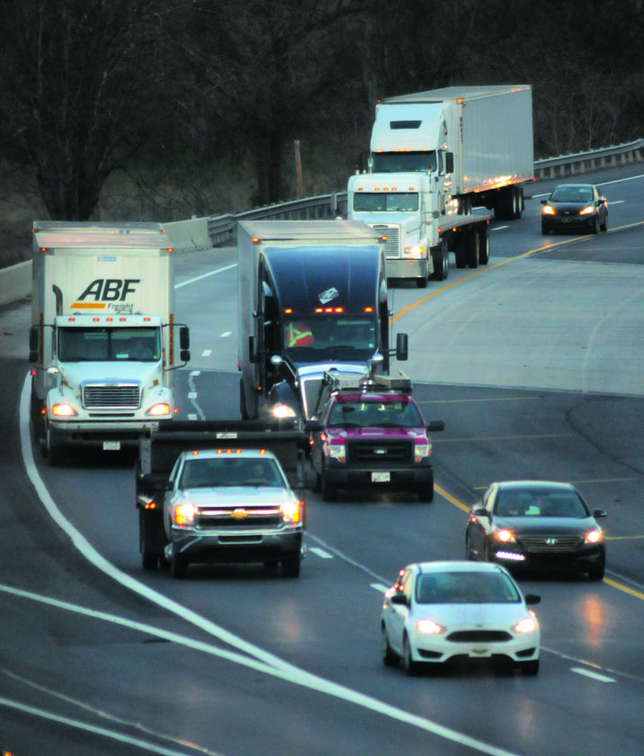 21 Holiday Traffic ra 11-20-17 Traffic of I-81 is expected to increase with Holiday traffic this week. (Journal Photo by Ron Agnir)