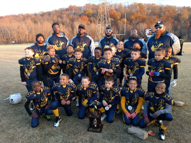 Submitted photo The West Virginia Elite 7U football team finished second at the Battle in Rocky Top tournament. Members of the team include, in no particular order, Shawn Riggleman, Kolby Walker, Brayden Brown, Kylan McDonald-Gibson, Frankie Carter, Landen Herring, Jaevyn Hancock, Jayden Fort, Rashad Yates, Josiah Peacoe, Kevin Fortune, Tevon Miller, Demari Pearson, Owen Utterback, Ryder Jackson, Liam Foote, Semaj Yates and Jesse Robinson. Coaches are A.J. Brown, Theo Yates, Brad Riggleman, Matt Wilson and Dante Pearson.