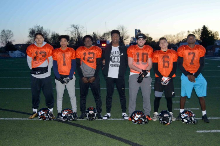 Journal photo by Jessica Manuel-Wilt Members of the Martinsburg football team receiving corps have made a big impact on the Bulldogs' high-powered offense. Six different wide receivers have caught passes in the postseason.