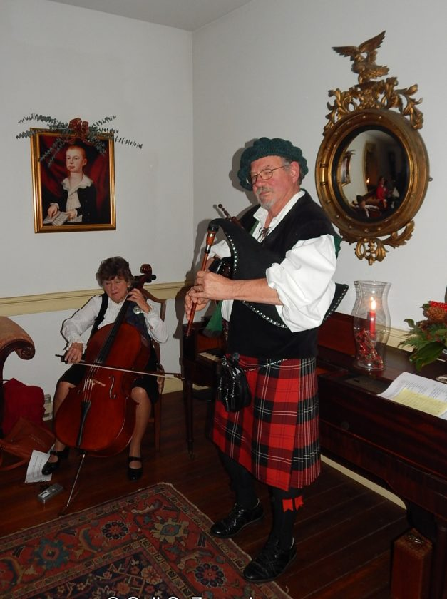 Robert Mitchell on bagpipes,  from last year's event. (Submitted photo)