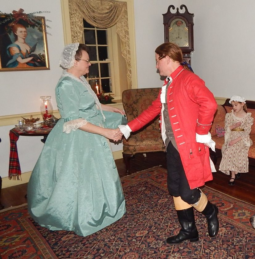Marty and Marlyn Keesecker dancing the minuet. (Submitted photo)