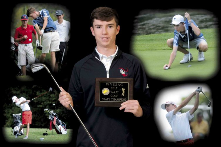 Journal illustration and photo by Ron Agnir Washington junior Christian?Boyd has been named The Journal's 2017 Golfer of the Year after winning the Class AAA individual state title and helping the Patriots win a team state title.