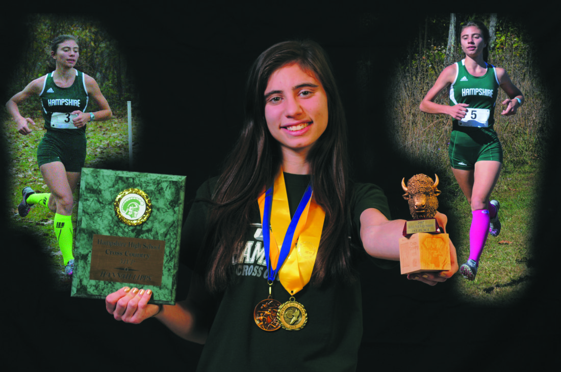 Hampshire's Hannah Lipps is the 2017 Journal Girls Cross Country Runner of the year. (Journal Photo Illustration by Ron Agnir)