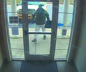 Pictured is a still photo taken from the 167th Federal Credit Union surveillance camera.