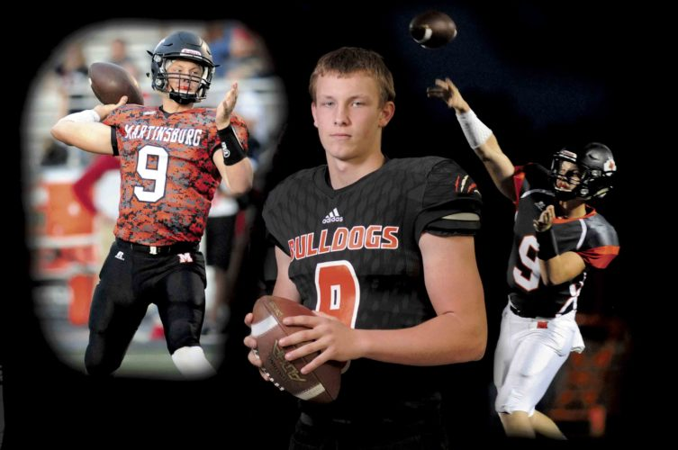 Journal illustration and photo by Ron Agnir Tyson Bagent, who led Martinsburg to a second straight 14-0 season and second state championship in a row as the team's quarterback, has been named as The Journal's Offensive Football Player of the Year. (Journal photo illustration by Ron Agnir)