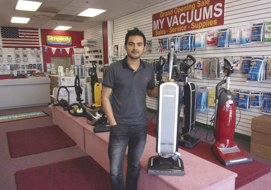 Sumit Sanjel recently opened My Vacuums in the North Plaza at 732 Foxcroft Ave. in Martinsburg. He carries a large selection of name brand vacuums, supplies and accessories as well as makes repairs on site. (Journal photo by John McVey)