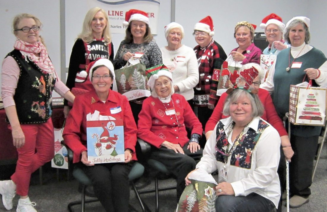 Bee Line DAR, Jefferson County Community Choir, and the social work staff of the Martinsburg VA Medical Center joined forces to bring holiday cheer to women veterans. (Submitted photo)
