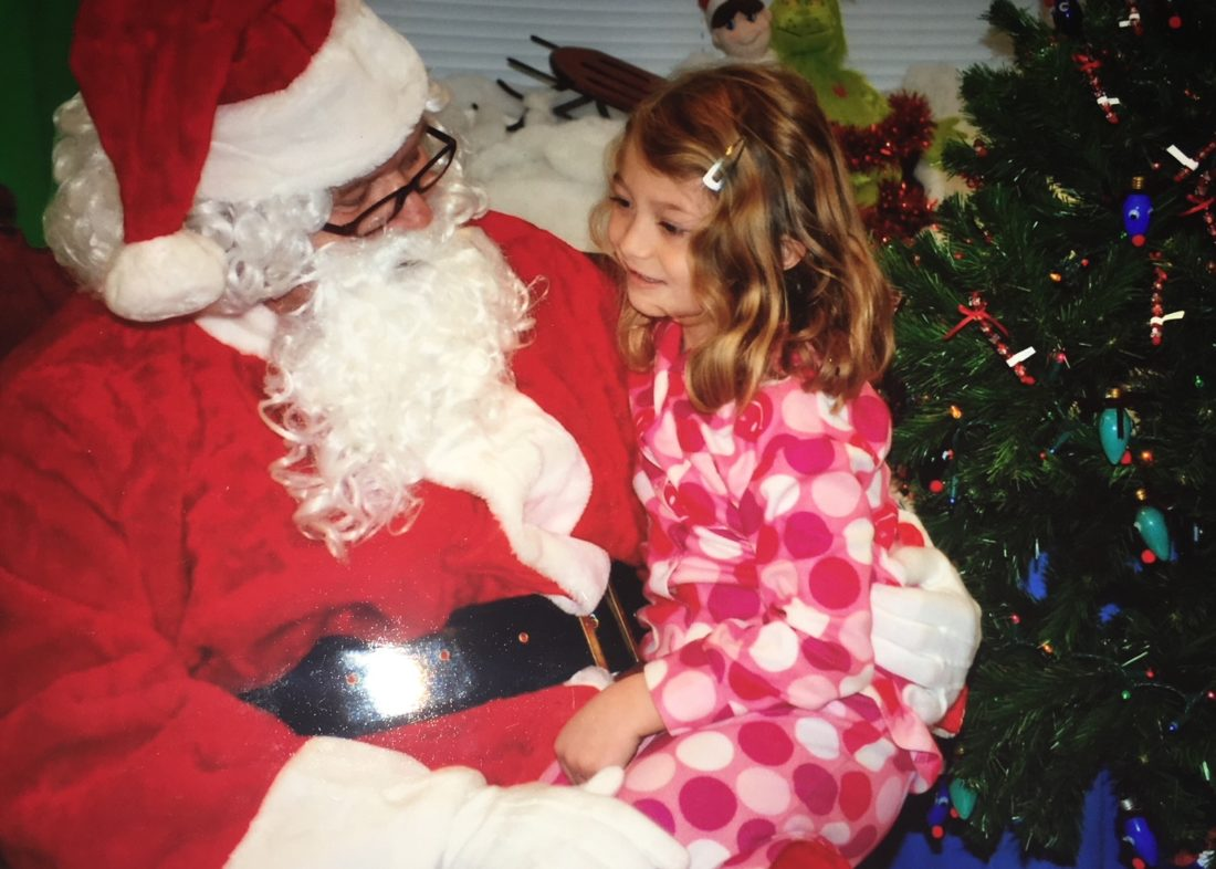 Submitted photo Jada Faircloth sits on Santa's lap during her last Christmas.