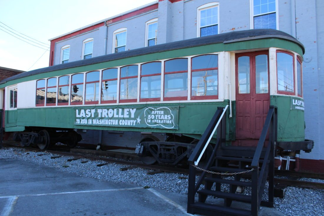 Washington County's last streetcar, which quit running in 1947, is over 100 years old. (Journal photo by Tricia Lynn Strader)