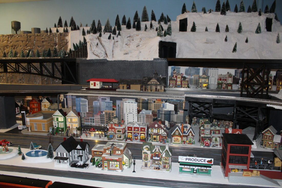 Scale model trains and scenes set up with great detail delight visitors. (Journal photo by Tricia Lynn Strader)