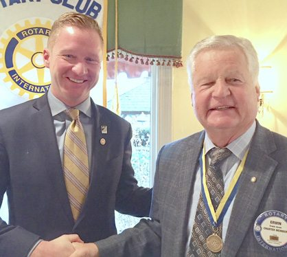 Christian Asam, left, with his father, Erwin Asam, who was one of the founders of the Shepherdstown Rotary Club. (Submitted photo)