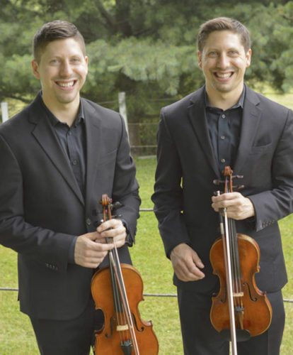 Twin brothers Michael and Matthew Polonchak founded Two Rivers Chamber Music in 2013. (tworiverschambermusic.com/Jason Palumbo)