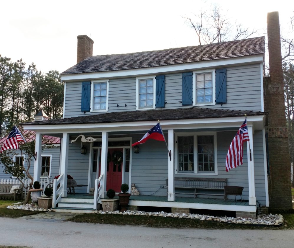A house built in the 1700s called Buckskin Farm sits along N.C. 168 in Currituck, N.C. Owners Sandra and Robert Justiss Jr. have labored for 10 years to restore and maintain this historic home and are still learning about its story. It is one of about 200 homes described in a new book about the county's historic architecture. (AP photo)