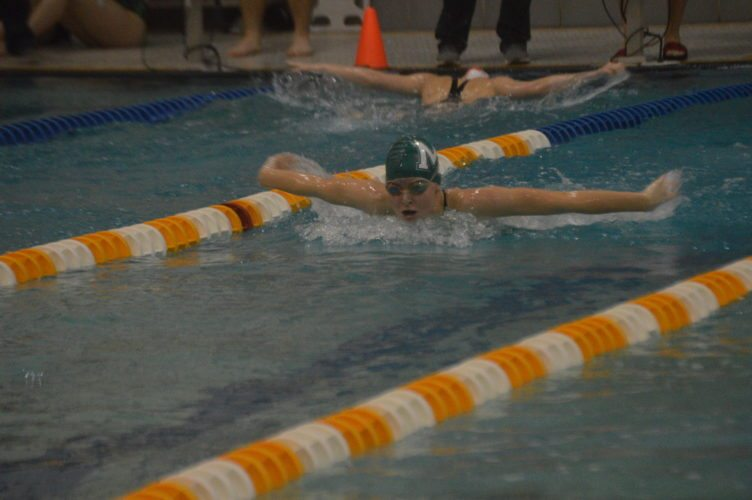 Molly Hull of Musselman wins the 100-yard butterfly. (Journal photo by Jessica Manuel-Wilt)