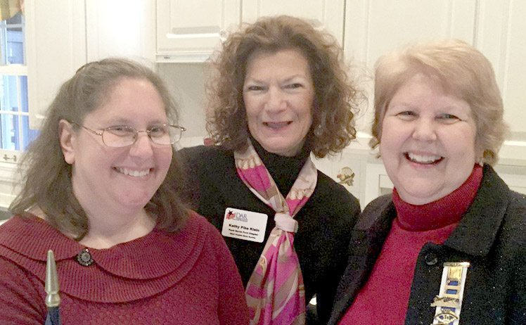 Chapter members, from left, Laura Huffman and Kathy Klein and Regent Kathy Sholl. (Submitted photo)