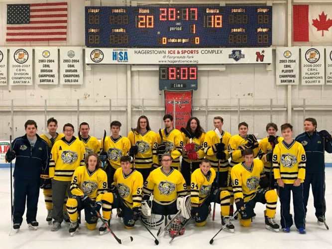 Here are members of the West Virginia Vipers high school ice hockey team and their coaches. (Submitted photo)