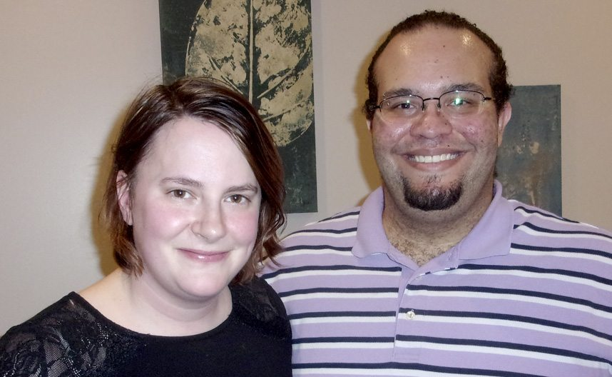 Bianca Stevens, practice manager, and Nicholas Trietsch, LICSW, are partners in the Nurture and Balance counseling practice in Martinsburg. They are offering a free mood disorders and anxiety peer support group starting this week. (Journal photo by John McVey)