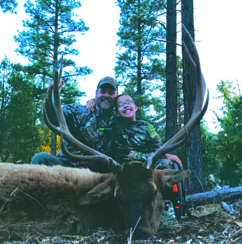 Submitted photo Brenden Dugan, 9, shot and killed a bull elk during a hunting trip in New Mexico with the Outdoor Dream Foundation.