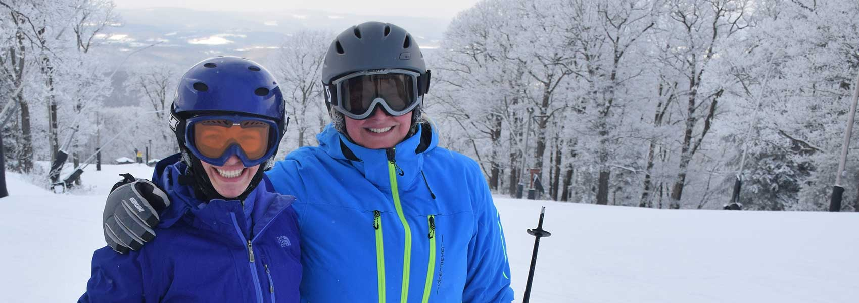 Adult skiers at Laurel Mountain