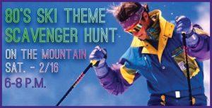 80's Ski Theme Scavenger Hunt