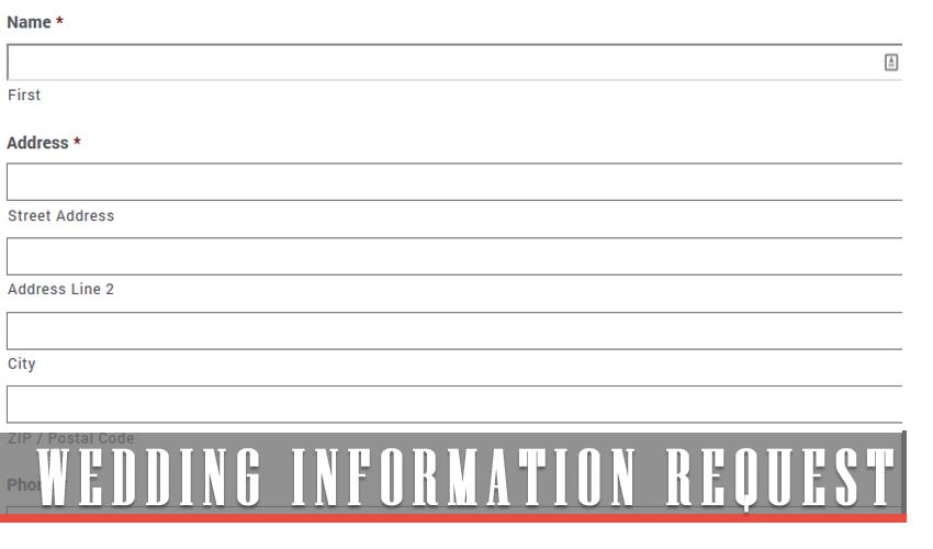 Wedding Information Request