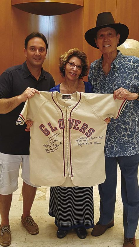 Mike Hauser, left, is pictured with Michael Dante, right, and his wife, Mary Jane. (Photo submitted)