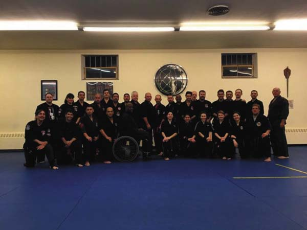 Pazzaglia's Kenpo Karate owner and chief instructor Joe Pazzaglia, a fifth-degree black belt, was among the presenters at the 2016 International Instructors Martial Arts Conference in New Jersey. Pazzaglia (back row, 11th from left) stands among those who participated in his class. (Photo submitted)