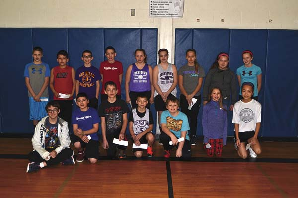 The Greater Johnstown School District physical education department hosted its annual foul shooting contest for students in third through sixth grade at Warren Street Elementary School on March 11. (Photo submitted)
