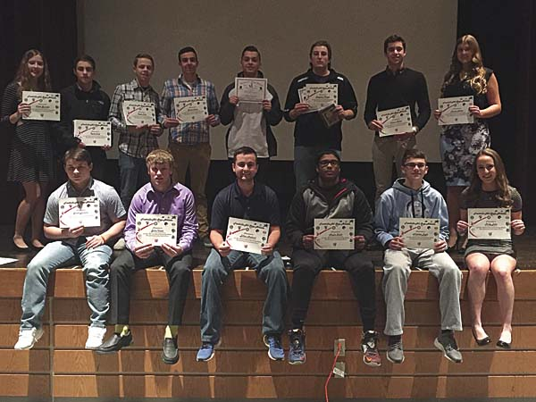 Several Johnstown High School student-athletes were honored for their efforts during the winter sports season. (Photo submitted)