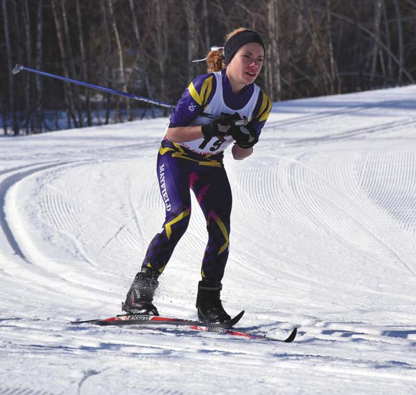 Mayfield's Madison Relyea skis during the NYSPHSAA girls nordic individual classic state championship at the North Creek Ski Bowl on Feb. 27. Relyea recently was named a second-team Section II all-star. (Adirondack Daily Enterprise/Justin A. Levine)