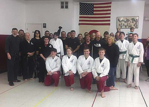 Shown, from left, are Schuyler Claes, Brianna Ferro, Hayden Lindsay and Matthew Bowler who have earned rank promotions at American Zen-Do Kai Karate Studio in Johnstown. (Photo submitted)