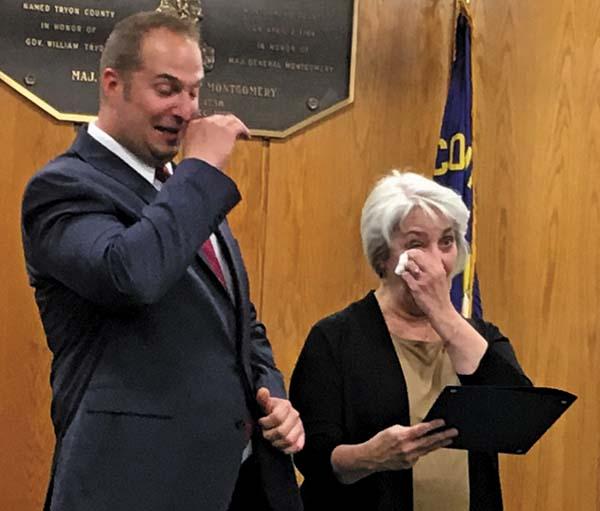 Matt Ossenfort and his mom, Stephanie Boice.  (The Leader-Herald/Jason Subik)